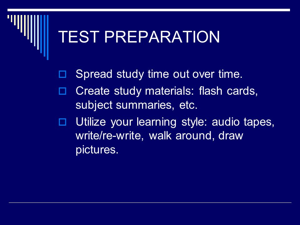 TEST TAKING  Underline key words. Read carefully, re-write if not clear.