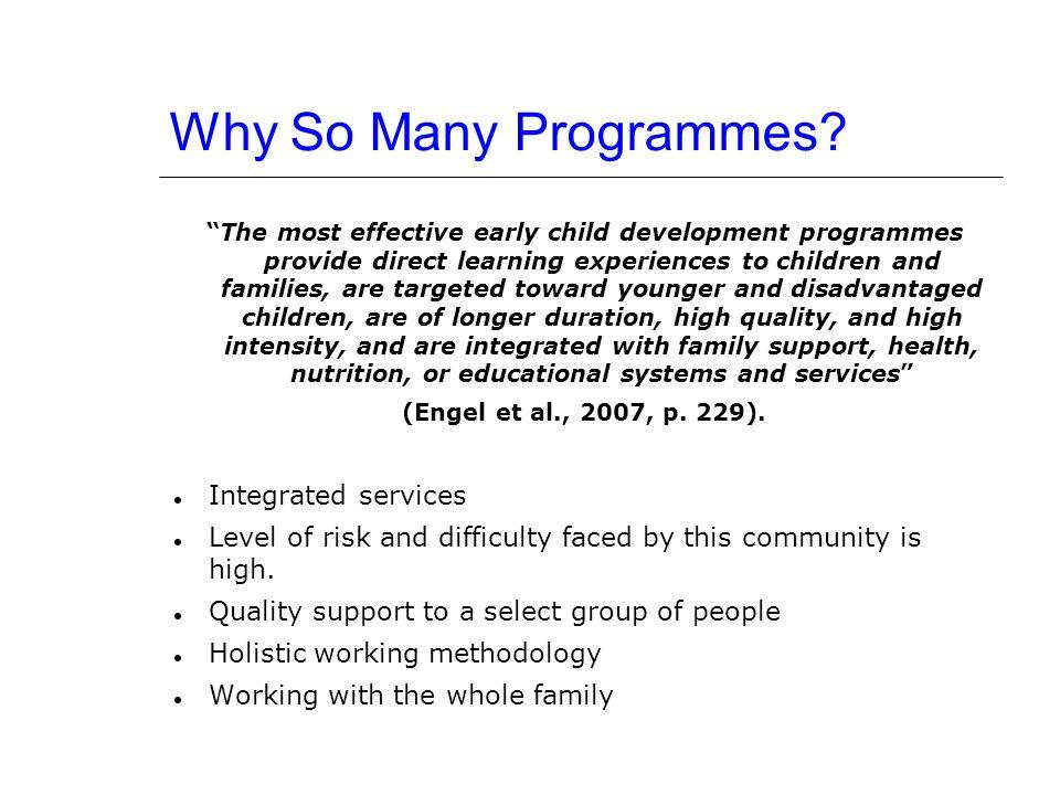 Why So Many Programmes.