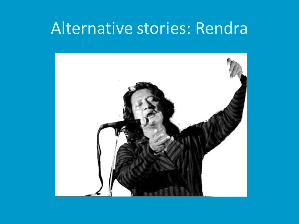 Alternative stories: Rendra