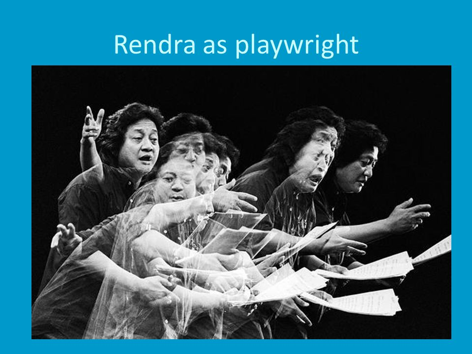Rendra as playwright