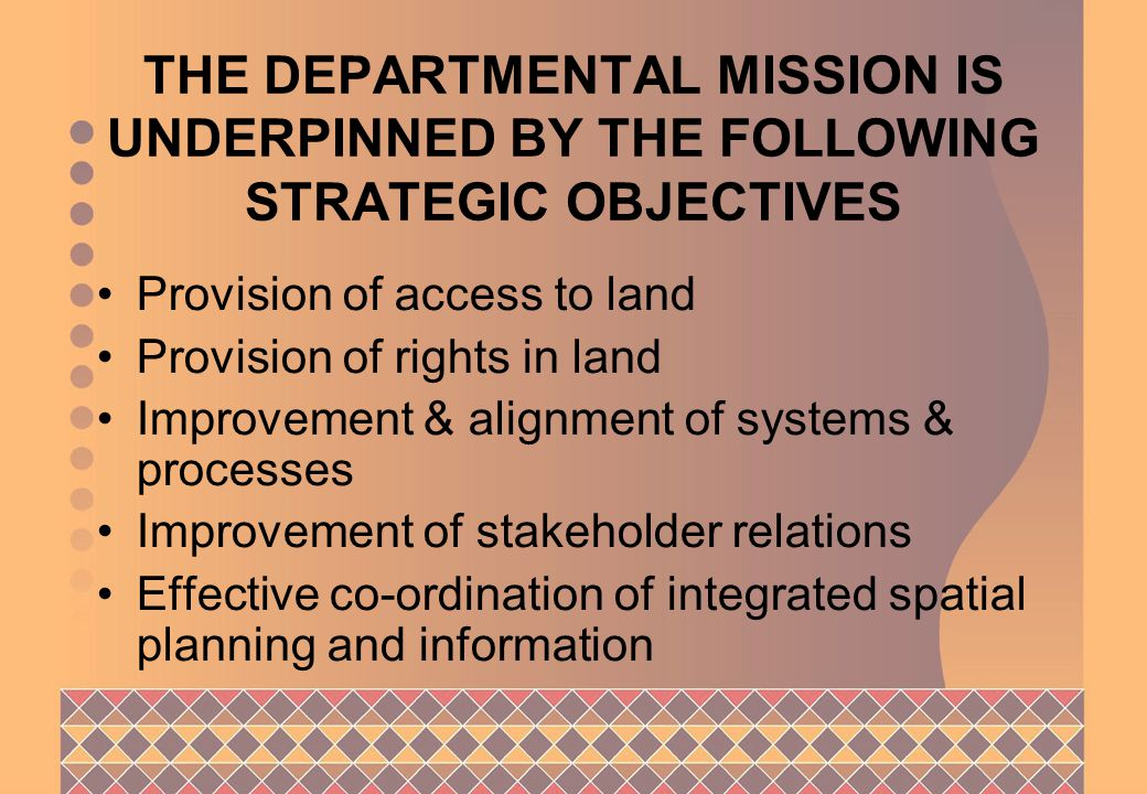 DEPARTMENT OF LAND AFFAIRS THANK YOU