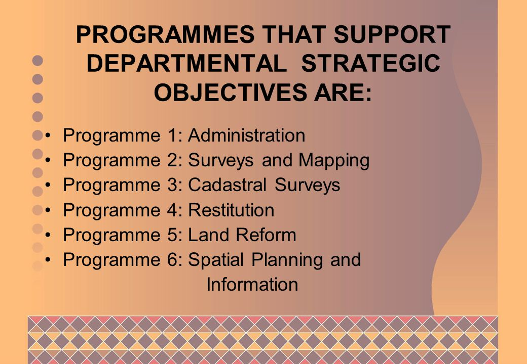SO 6: Effective co-ordination of integrated Spatial Planning and Information Programme: Surveys and Mapping