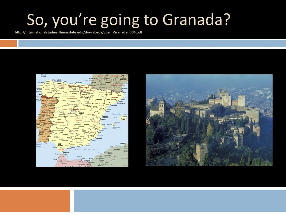What will I earn credit for in Granada. Everything that you take.