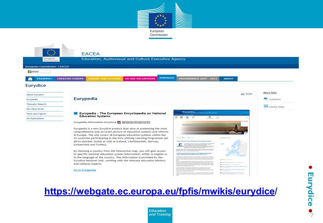Education and Training Eurydice https://webgate.ec.europa.eu/fpfis/mwikis/eurydicehttps://webgate.ec.europa.eu/fpfis/mwikis/eurydice/ 7