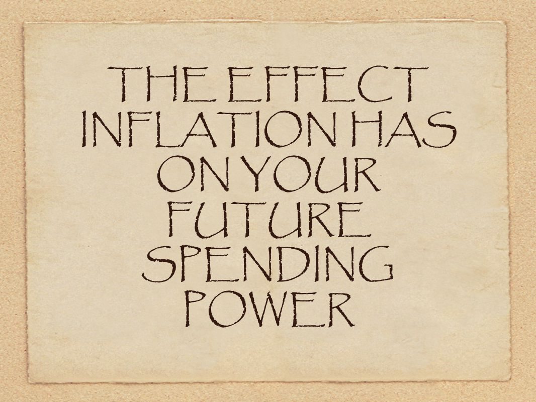 THE EFFECT INFLATION HAS ON YOUR FUTURE SPENDING POWER