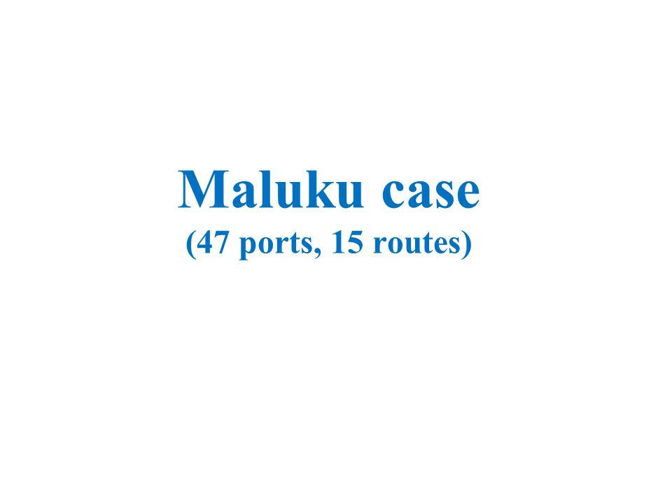 Maluku case (47 ports, 15 routes)