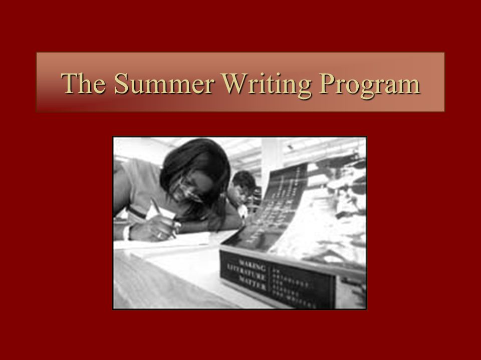 The Summer Writing Program