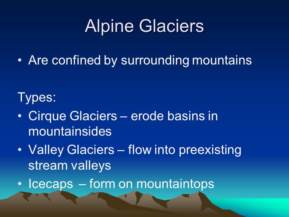 Types of Glaciers– Cirque Glacier Mount Edith Cavell, Jasper National Park, Canada