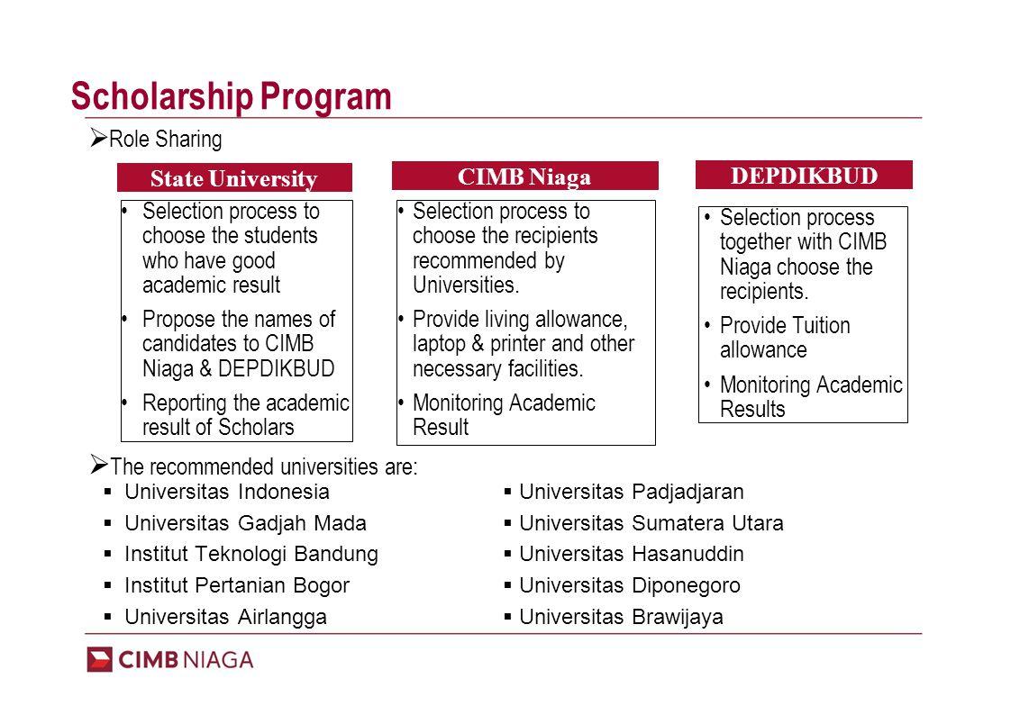Program Mechanism University DEPDIKBUD CIMB Niaga 1.