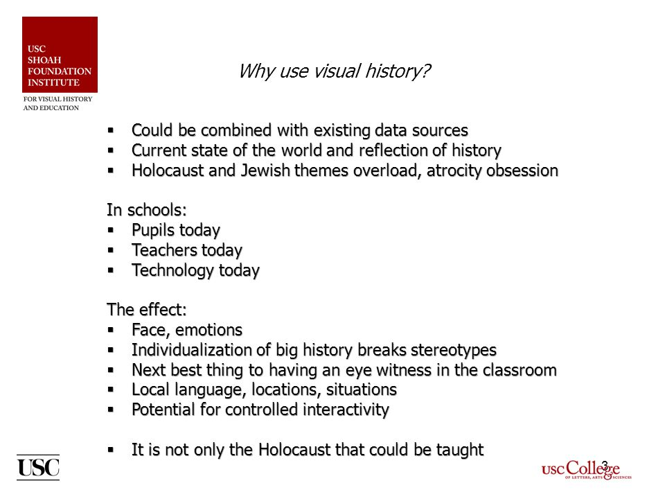 3 Why use visual history.