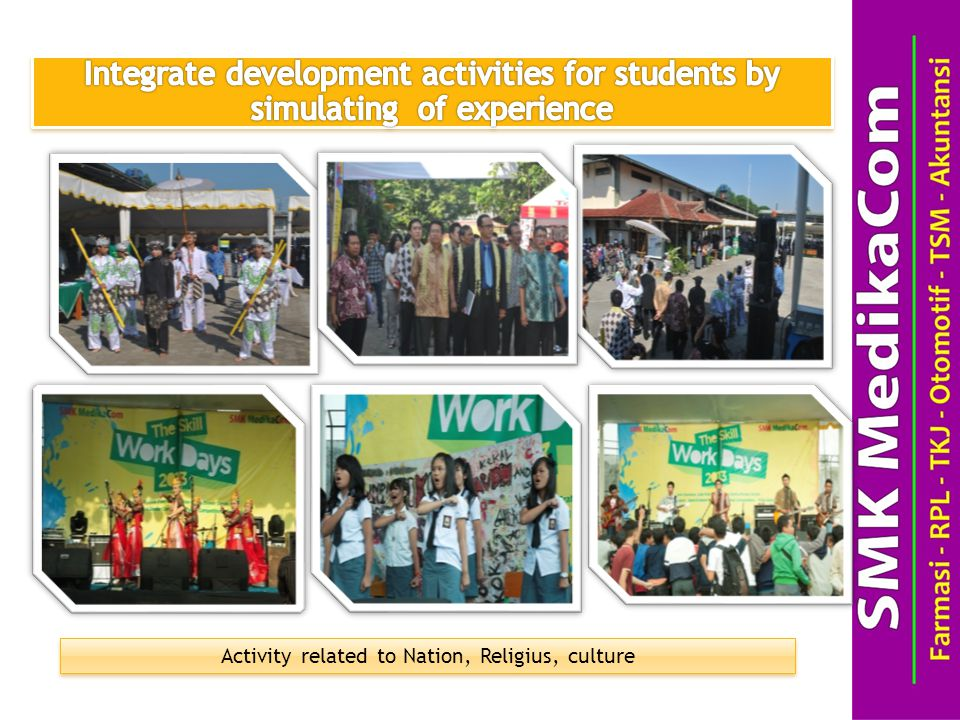 Activity related to Nation, Religius, culture