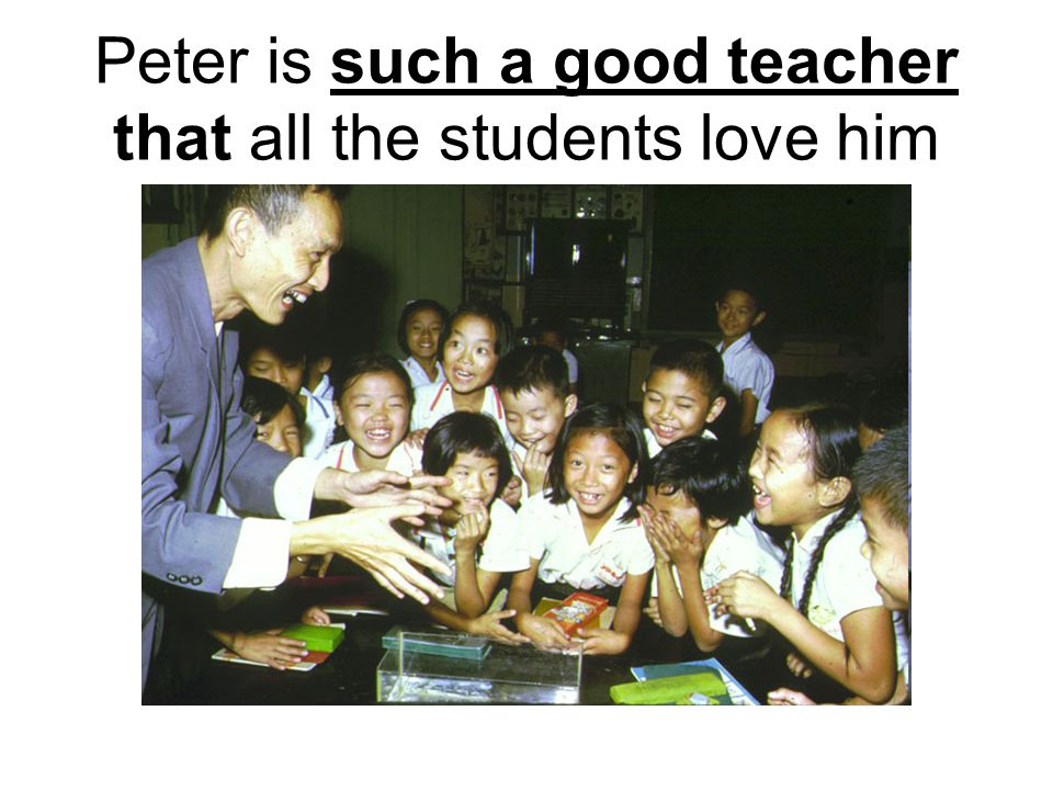Peter is such a good teacher that all the students love him