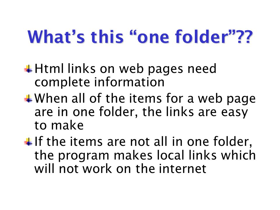 What's this one folder ?.
