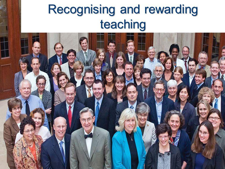 Recognising and rewarding teaching