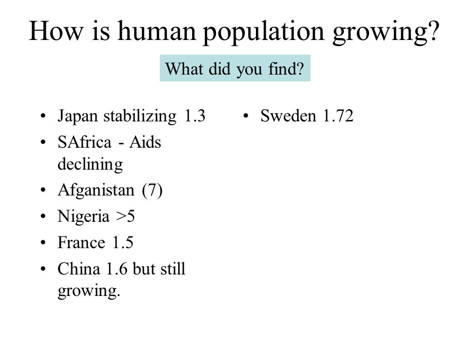 How is human population growing? unequal growth