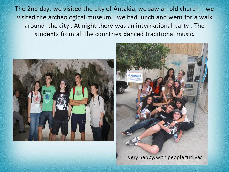 When we returned to Osmaniye, they had prepared us an international party… Dancing Sevillanas Hungarian students…