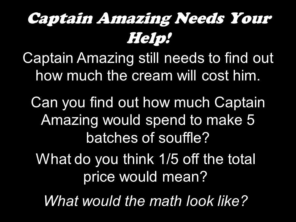 Captain Amazing Needs Your Help.