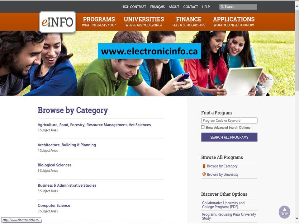 Electronic info www.electronicinfo.ca