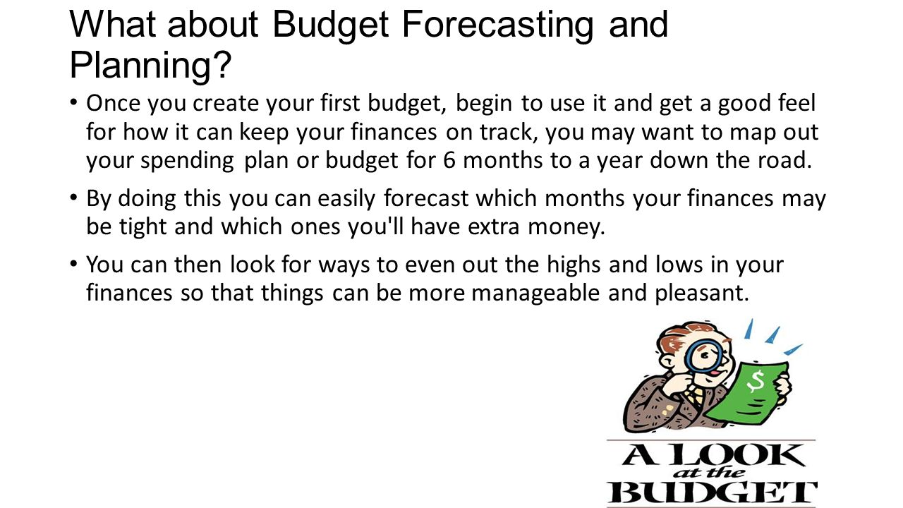 What about Budget Forecasting and Planning.