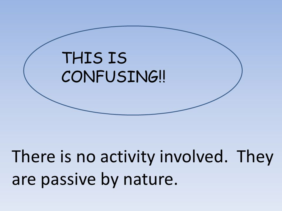 THIS IS CONFUSING!! There is no activity involved. They are passive by nature.