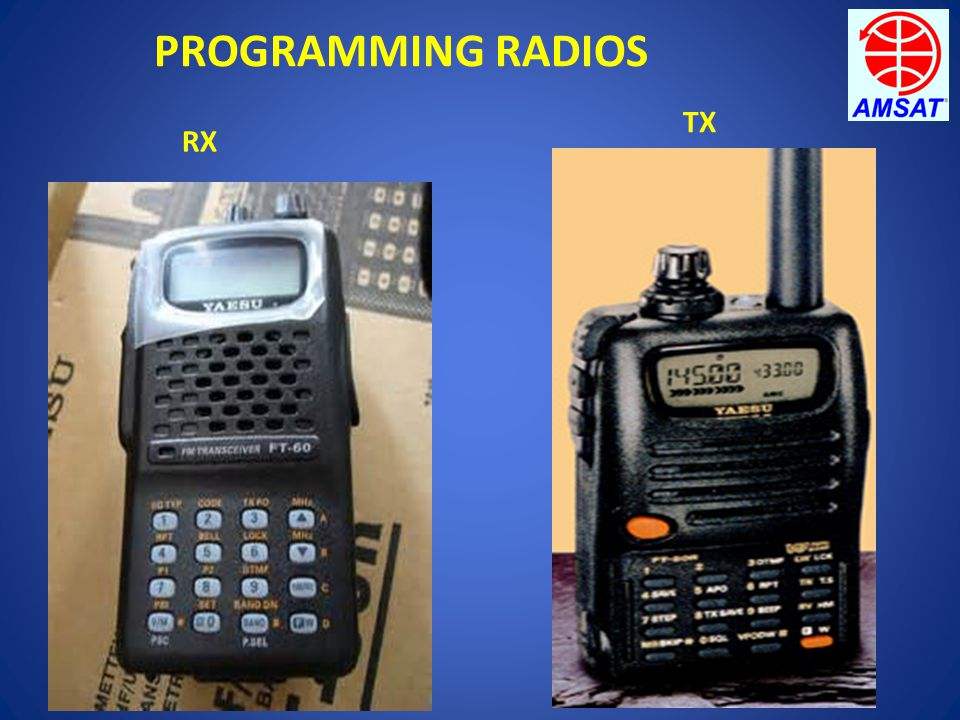 PROGRAMMING RADIOS RX TX