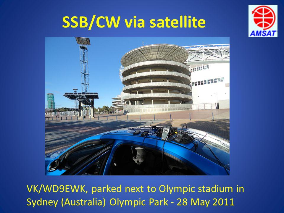 SSB/CW via satellite VK/WD9EWK, parked next to Olympic stadium in Sydney (Australia) Olympic Park - 28 May 2011