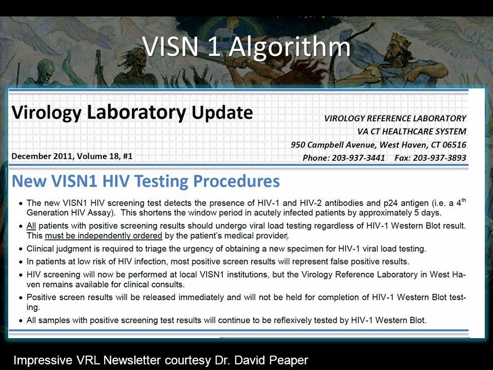VISN 1 Algorithm Impressive VRL Newsletter courtesy Dr. David Peaper