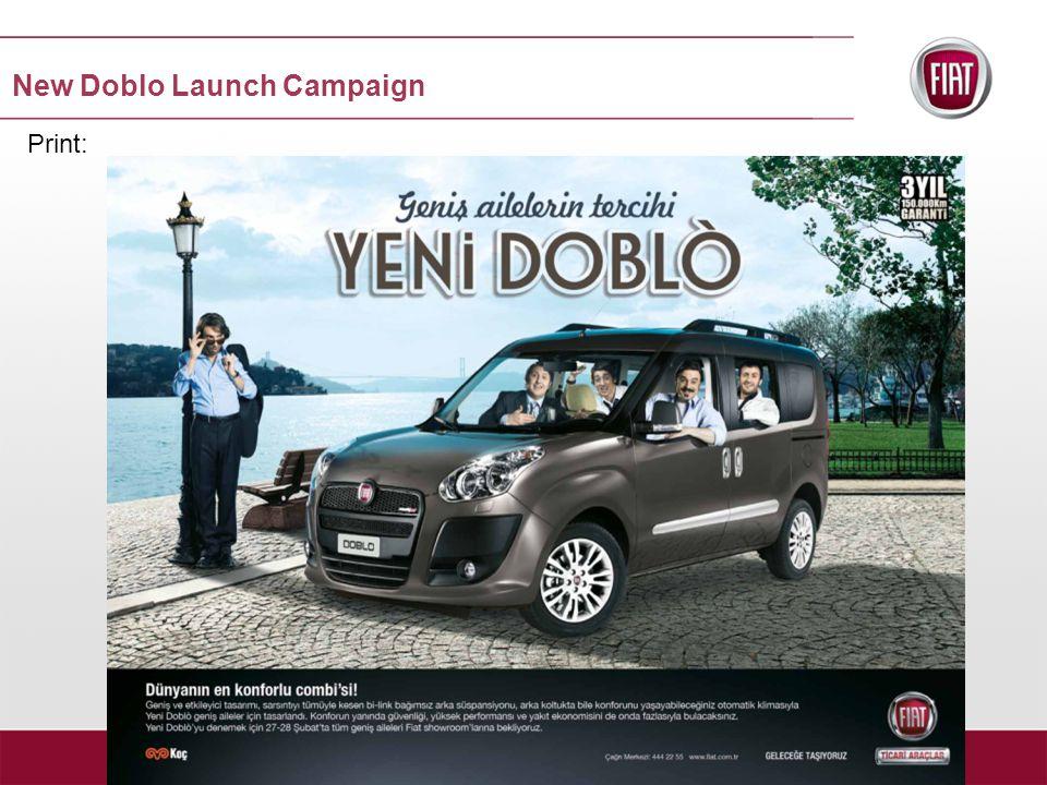 Print: New Doblo Launch Campaign