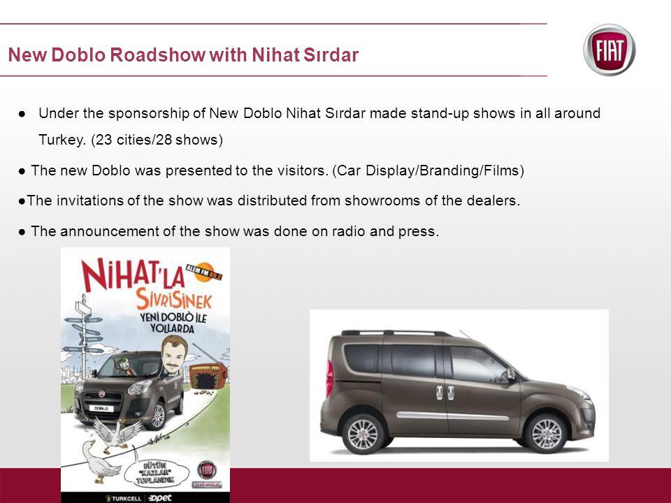 New Doblo Roadshow with Nihat Sırdar ●Under the sponsorship of New Doblo Nihat Sırdar made stand-up shows in all around Turkey.