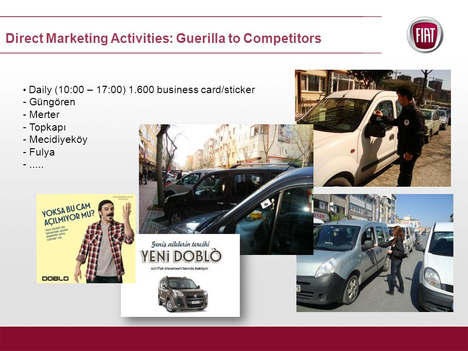 Daily (10:00 – 17:00) 1.600 business card/sticker - Güngören - Merter - Topkapı - Mecidiyeköy - Fulya -.....
