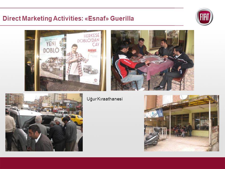 Uğur Kıraathanesi Direct Marketing Activities: «Esnaf» Guerilla