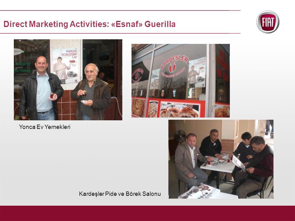 Yonca Ev Yemekleri Kardeşler Pide ve Börek Salonu Direct Marketing Activities: «Esnaf» Guerilla