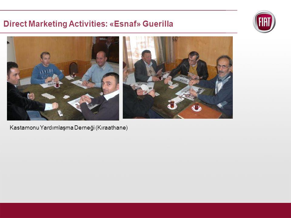 Kastamonu Yardımlaşma Derneği (Kıraathane) Direct Marketing Activities: «Esnaf» Guerilla
