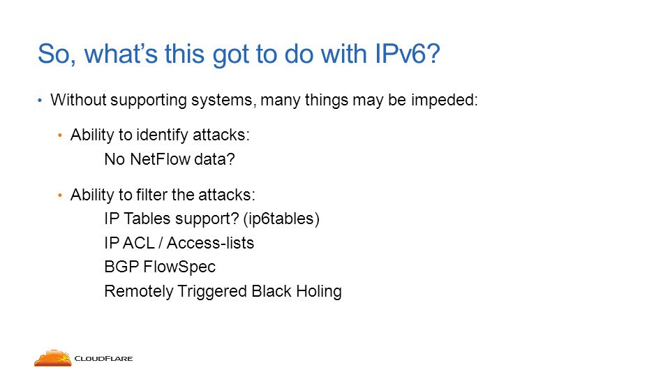 So, what's this got to do with IPv6.