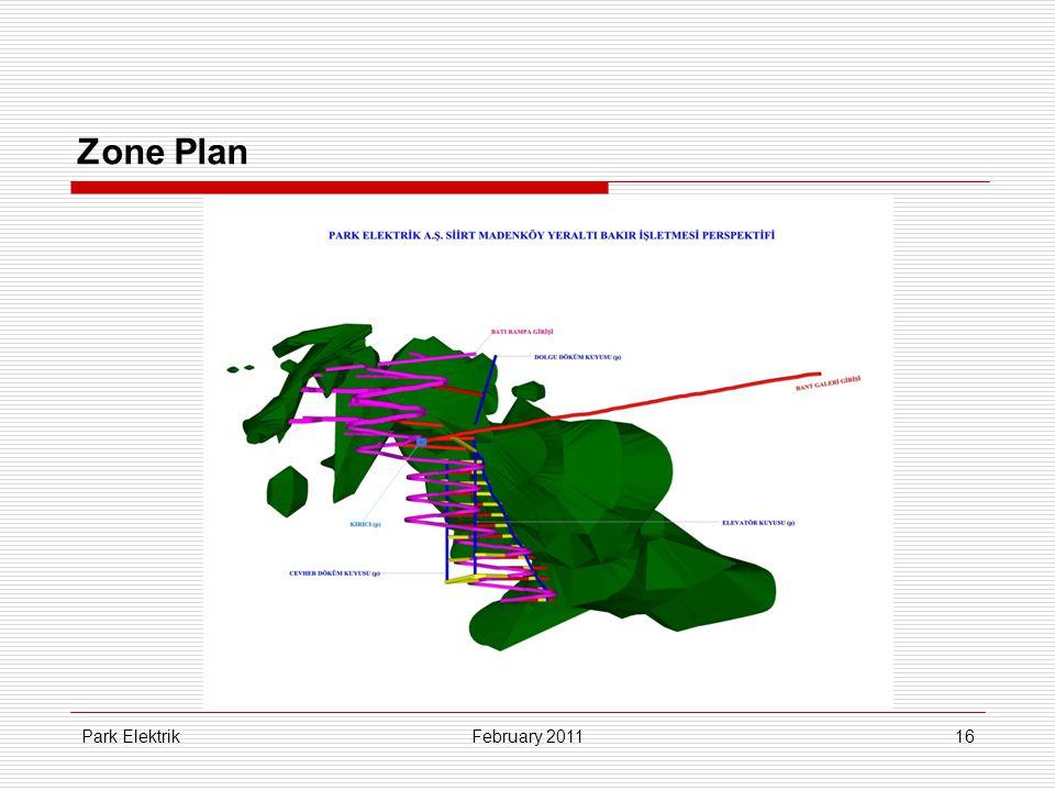 Park Elektrik16 Zone Plan February 2011
