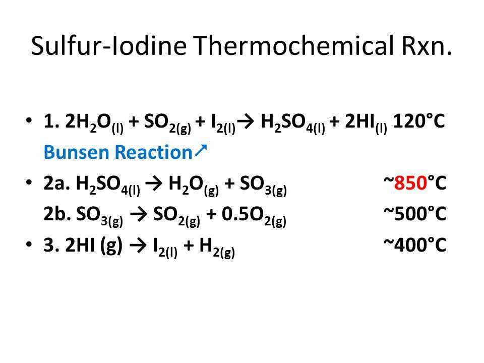 Sulfur-Iodine Thermochemical Rxn. 1.