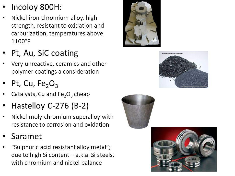 Against other methods Steam reforming – CH 4 + H 2 O → CO + 3 H 2 CO + H 2 O → CO 2 + H 2 Doesn't cut out carbon emission  High or low temp electrolysis: H2O → O 2 + H 2 Needs extremely high temperatures for efficiencies ~45% Others - methanol: CO 2 + 3H 2 → CH 3 OH + H 2 0 - dimethyl ether CH 3 OCH 3 - Ammonia NH 3
