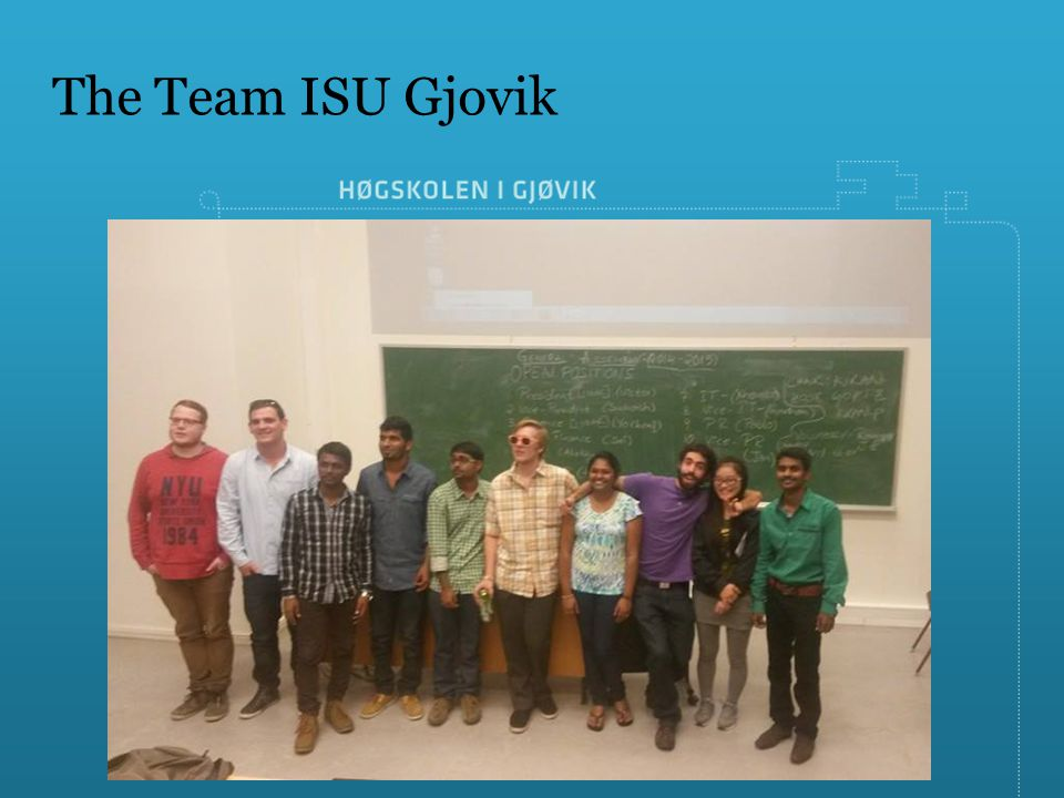 The Team ISU Gjovik