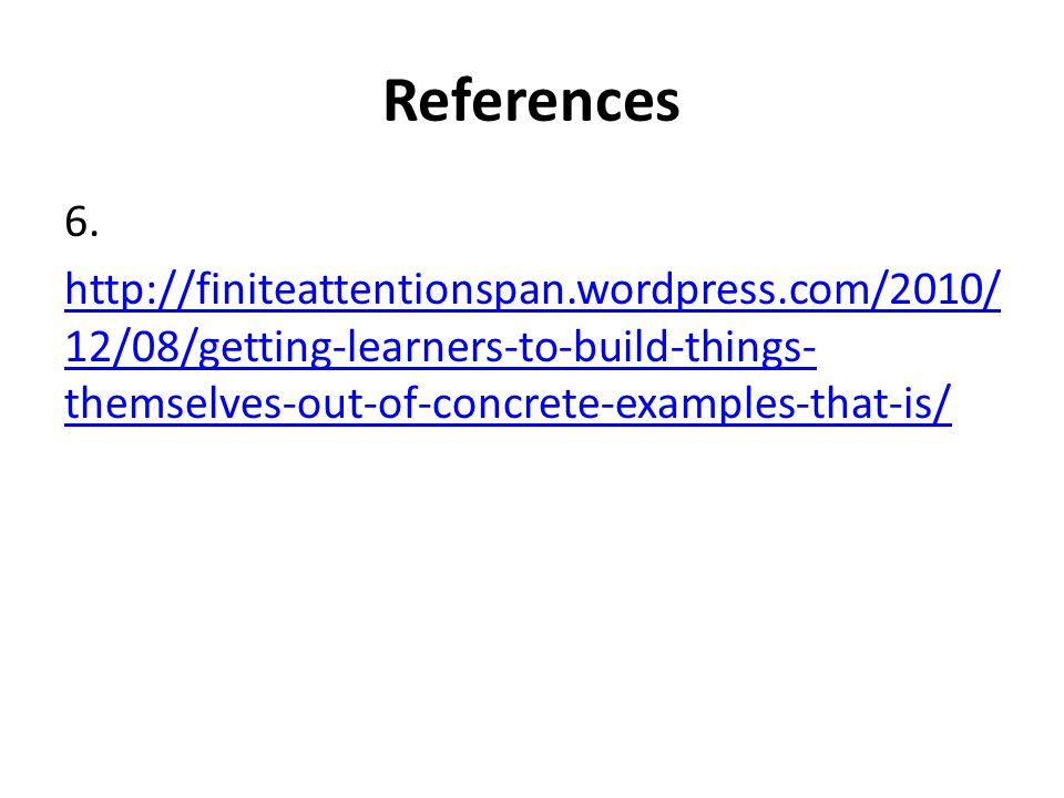 References 6.