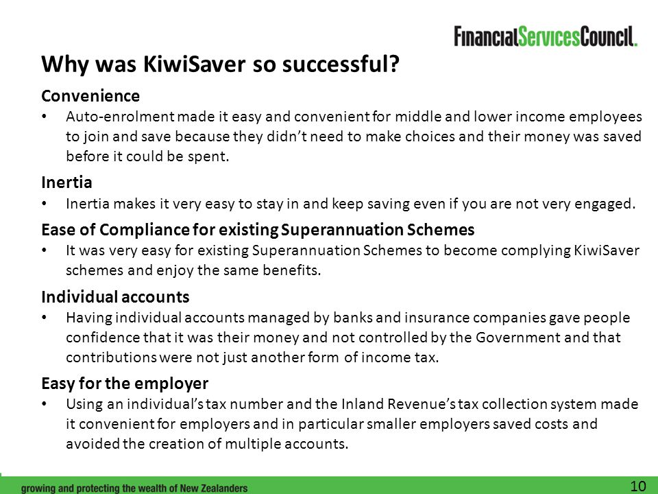 Why was KiwiSaver so successful.