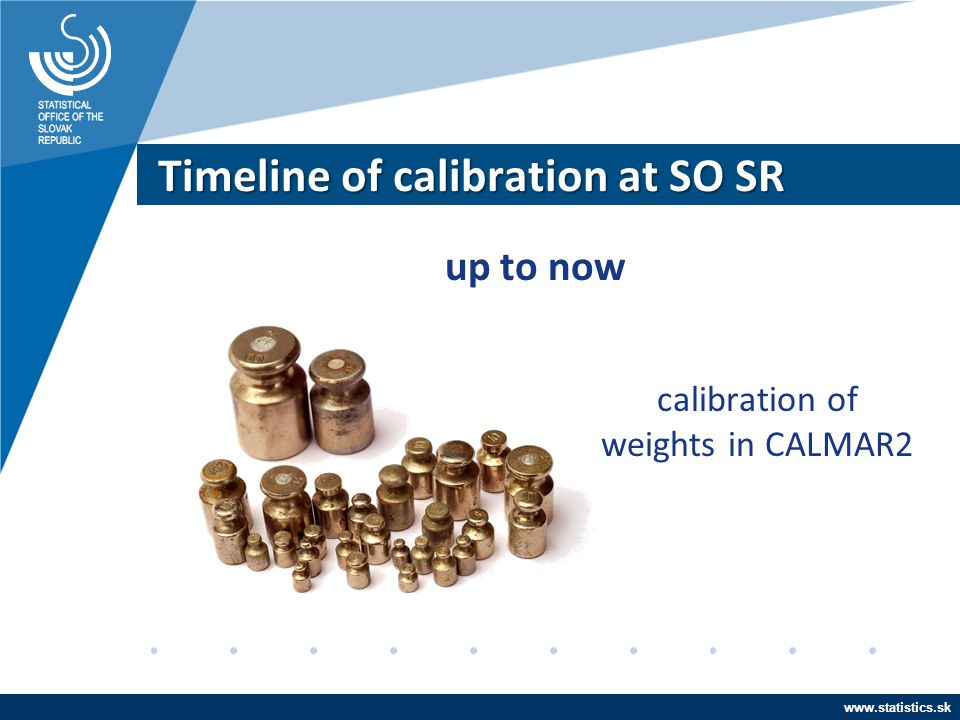 www.statistics.sk Timeline of calibration at SO SR up to now calibration of weights in CALMAR2