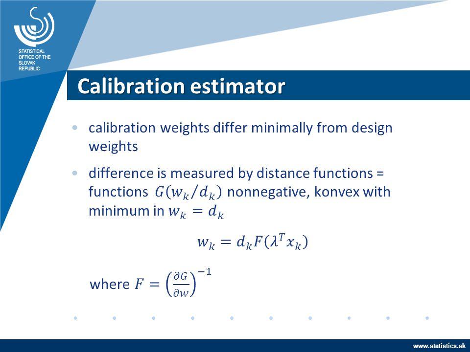 www.statistics.sk Calibration estimator