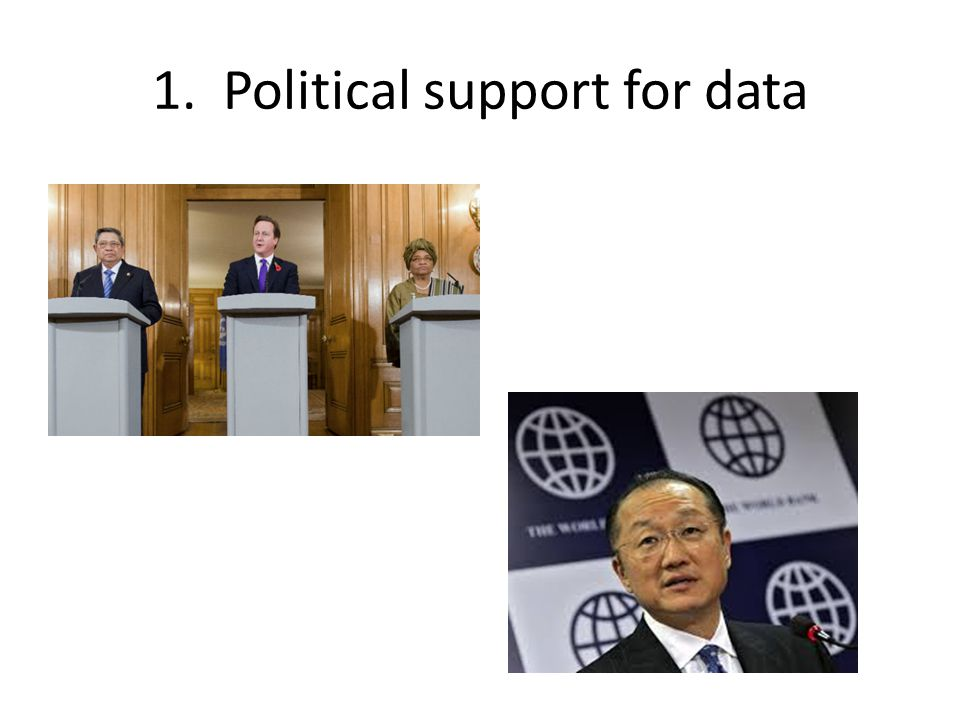 1. Political support for data