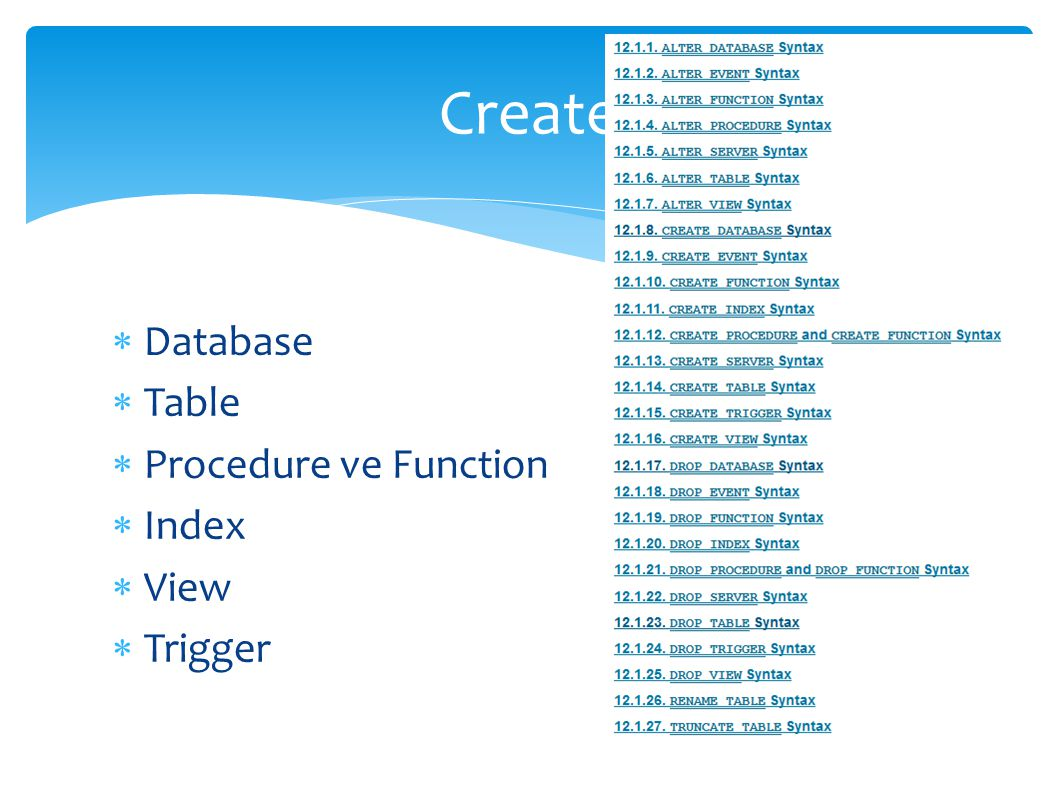 LOAD DATA [LOCAL] INFILE C:/Users/Desktop/açık_dosya_adı INTO TABLE tablo_ad COLUMNS ESCAPED BY , LINES TERMINATED BY - ;