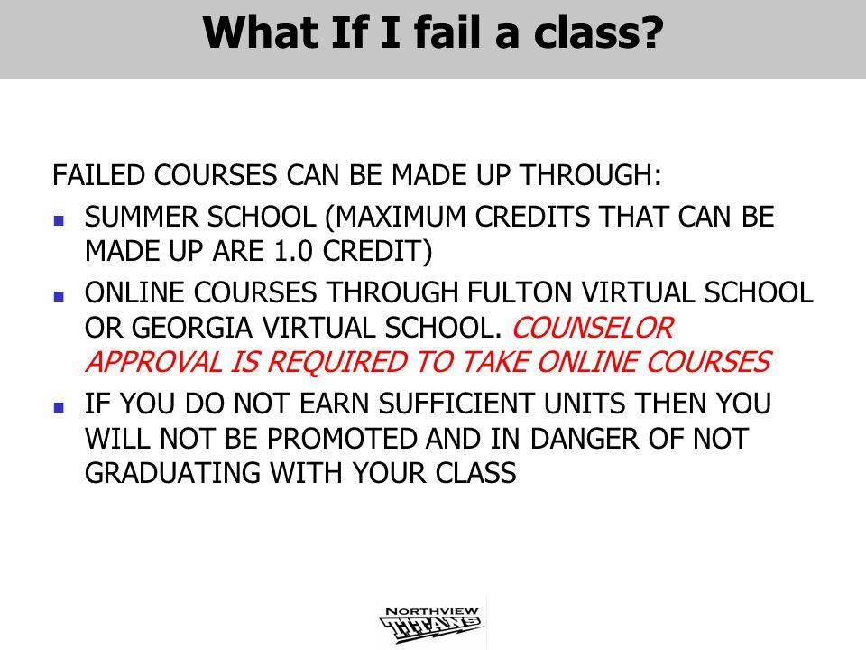What If I fail a class.