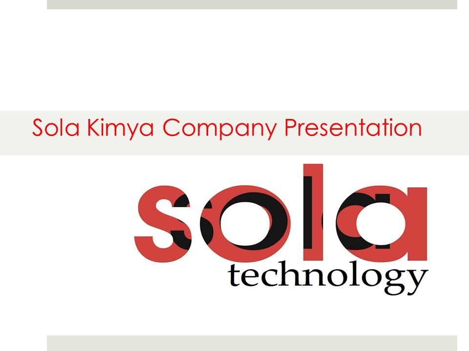 Sola Kimya Company Presentation