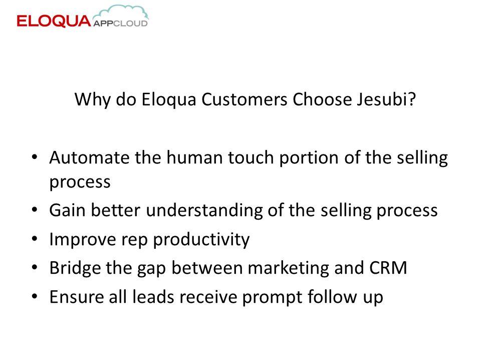 Why do Eloqua Customers Choose Jesubi.