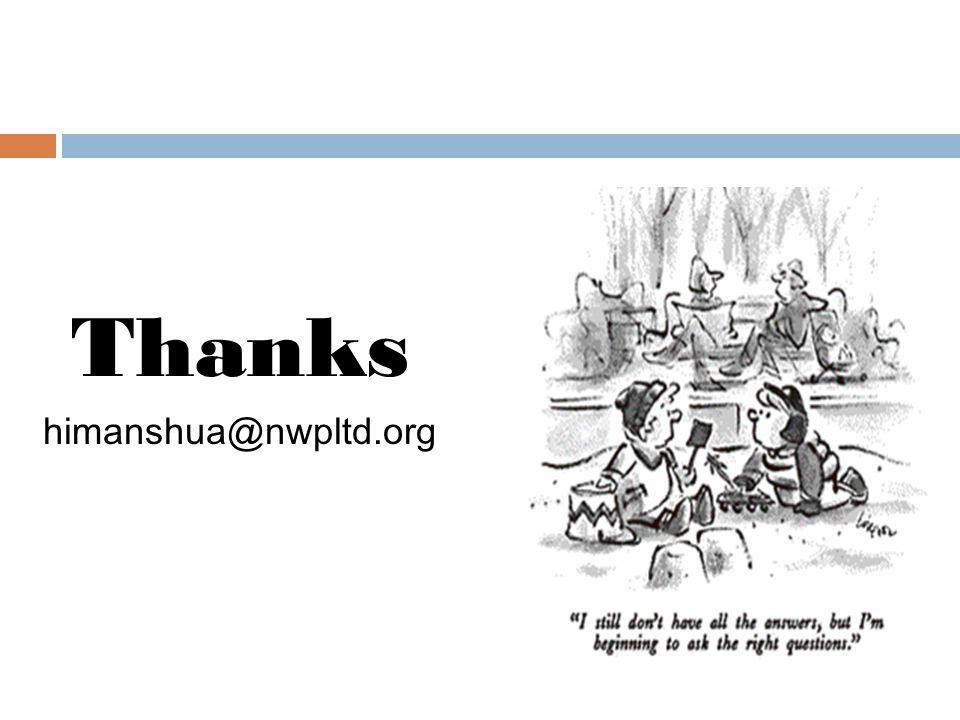 Thanks himanshua@nwpltd.org