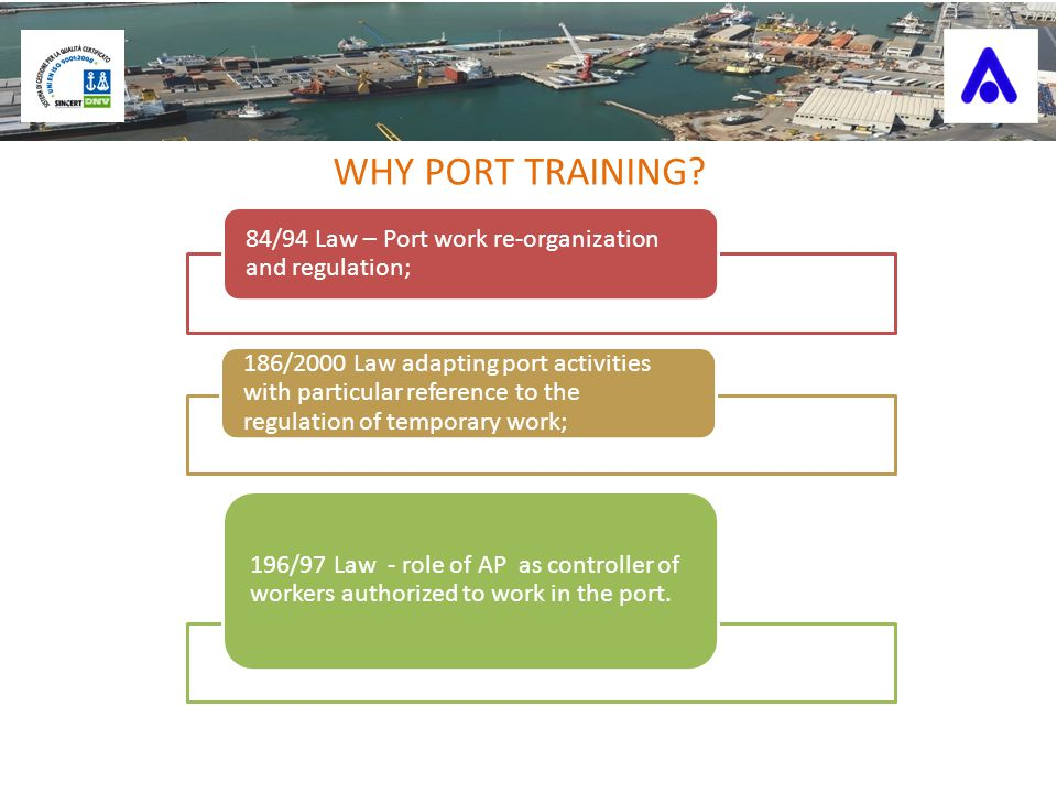 WHY PORT TRAINING.
