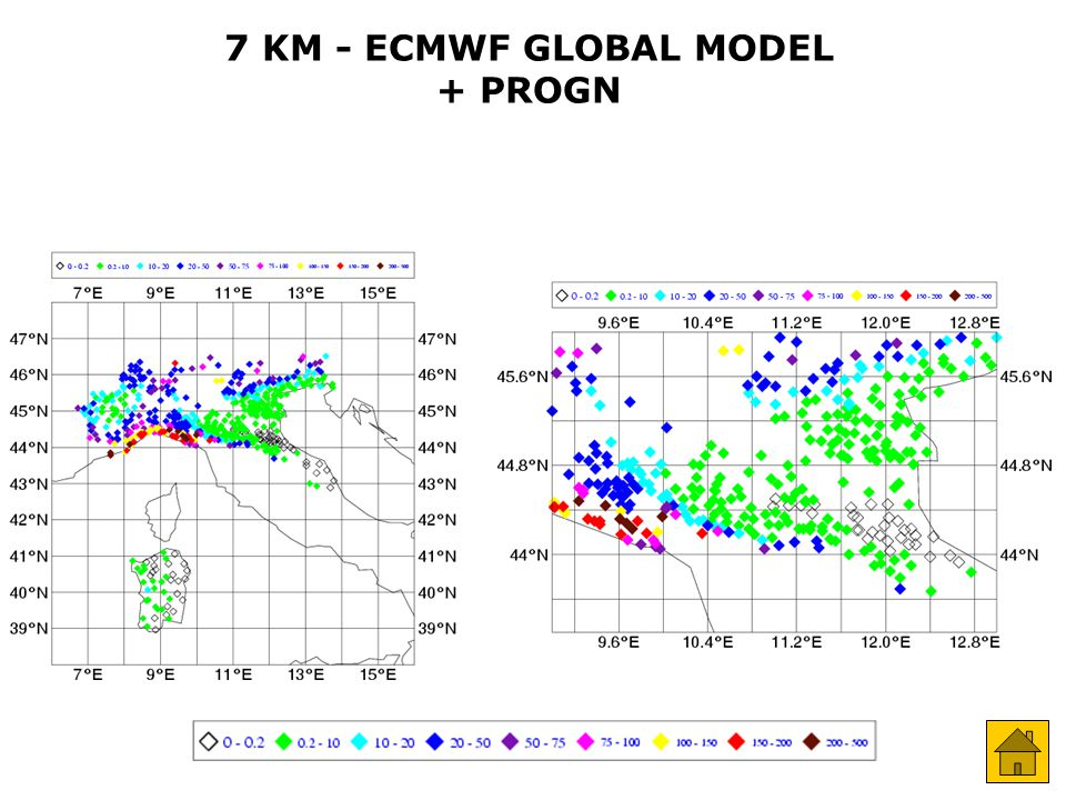 7 KM - ECMWF GLOBAL MODEL + PROGN